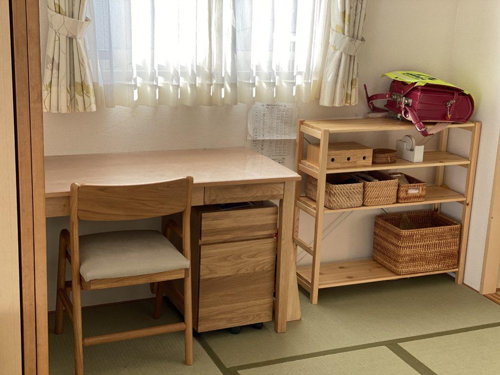 学習机、和室、ランドセル、子ども部屋