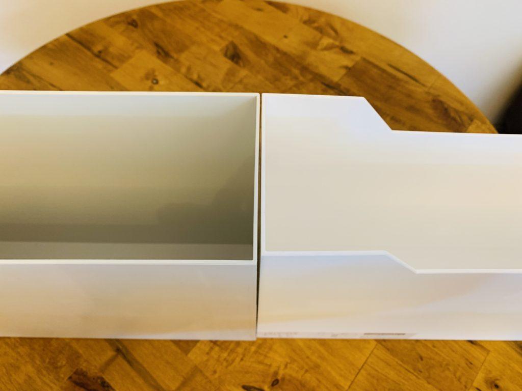 ニトリと無印良品のファイルボックスの幅