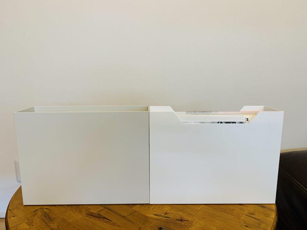 ニトリと無印良品のファイルボックス比較