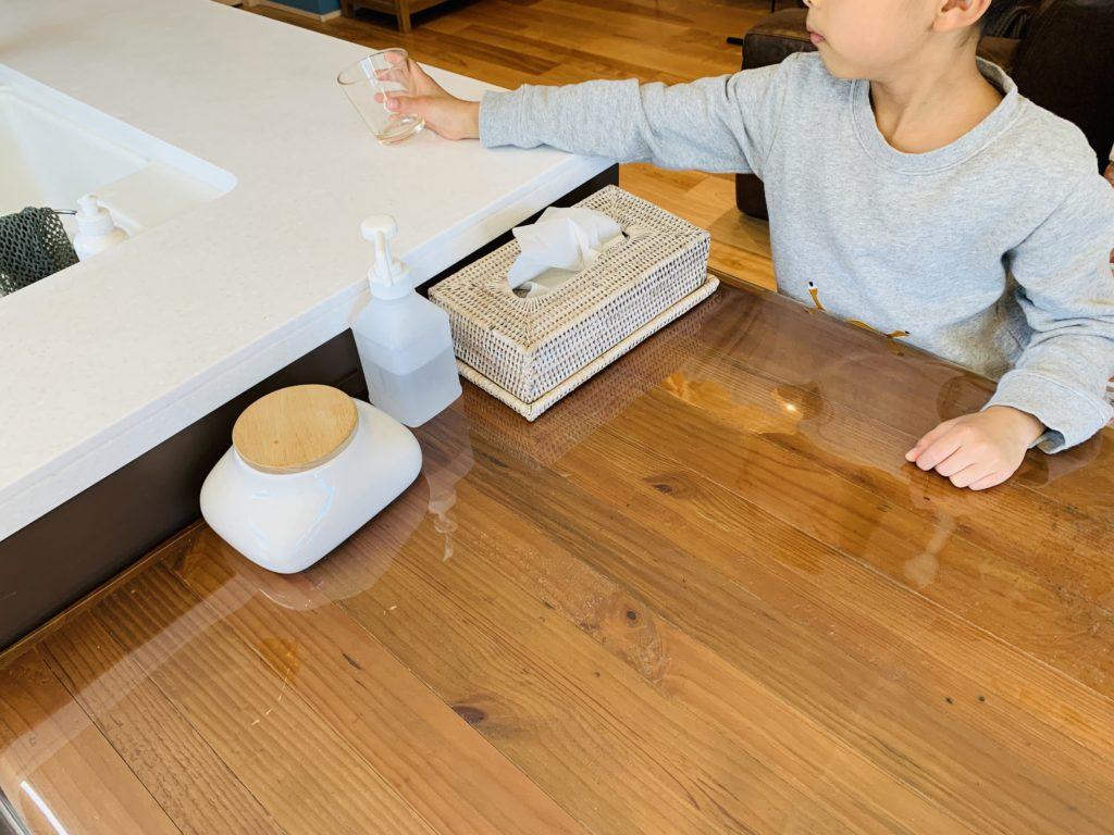 作業動線の良いオープンキッチン