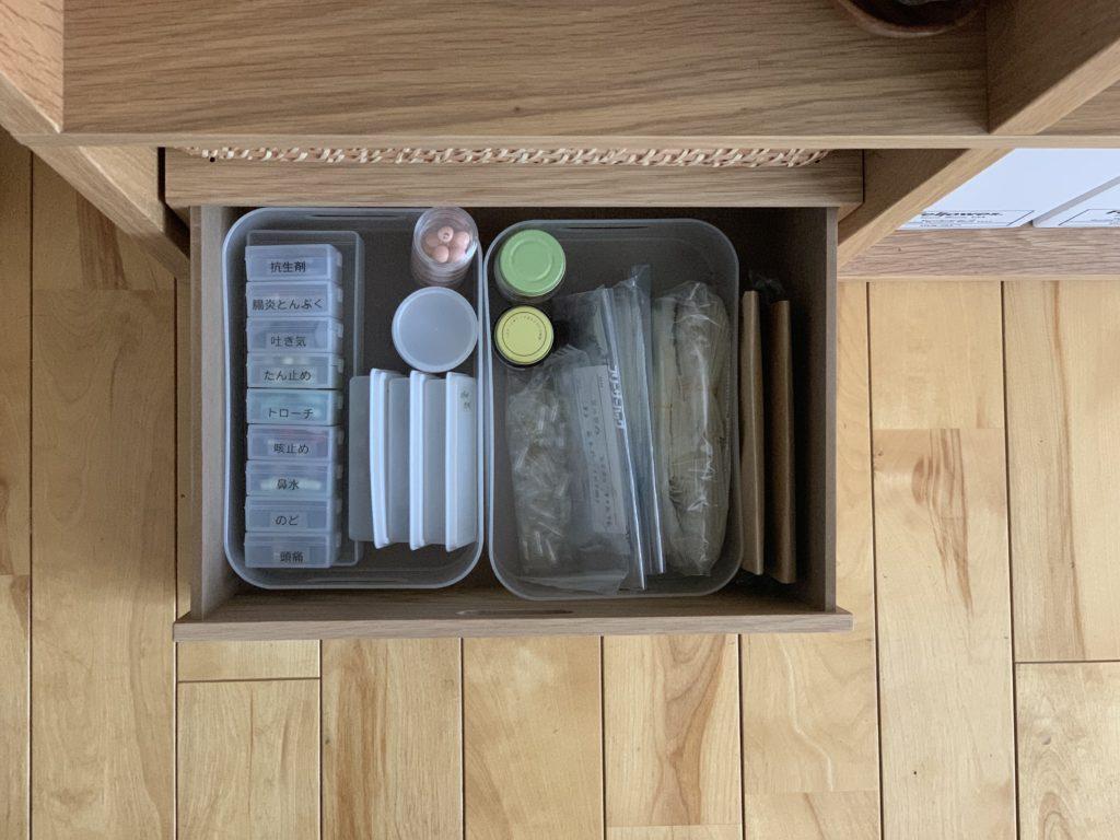 内服薬はキッチンの近くに収納。_1
