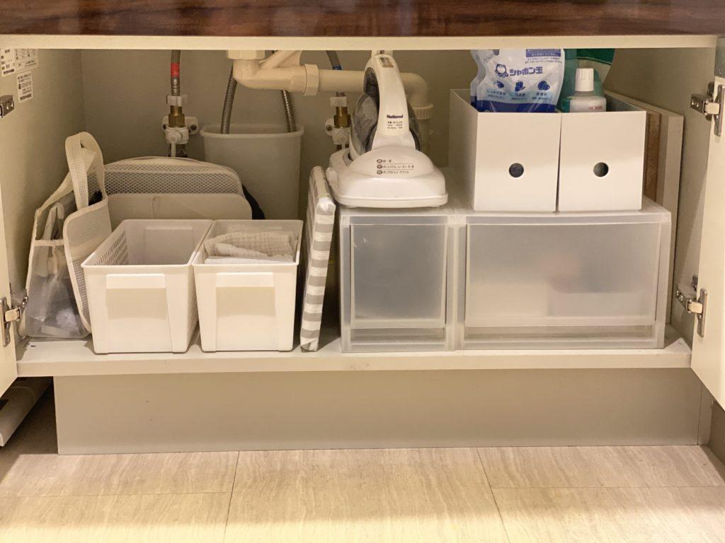 洗面所のシンク下収納