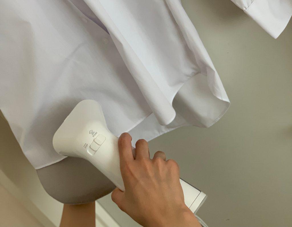 アイロンそのもの手放して、衣類スチーマーに,衣類スチーマー,プラスマイナスゼロ
