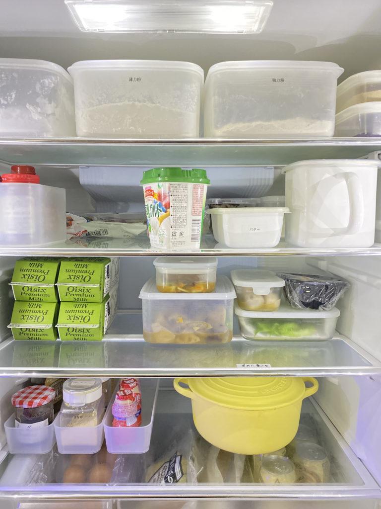 整った冷蔵庫