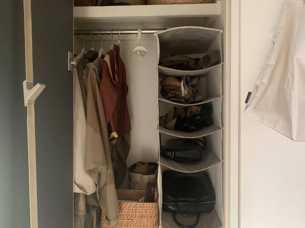 ファッション小物は玄関収納を活用するべし,ドアフック,玄関収納,吊り収納,ニトリ