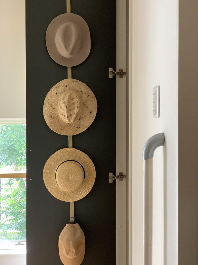 帽子は変形させない収納方法を。,帽子収納,ハット,ライクイット,ドアフック
