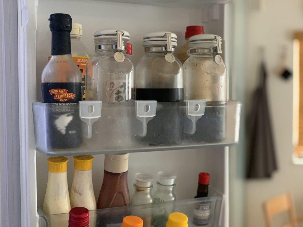 冷蔵庫の中を整える,冷蔵庫ドアポケット用仕切り,seria, 冷蔵庫,