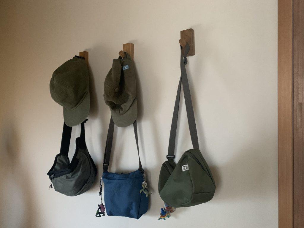 壁にフックを付けて、見せる収納に。,無印良品,壁に付けられる家具,フック