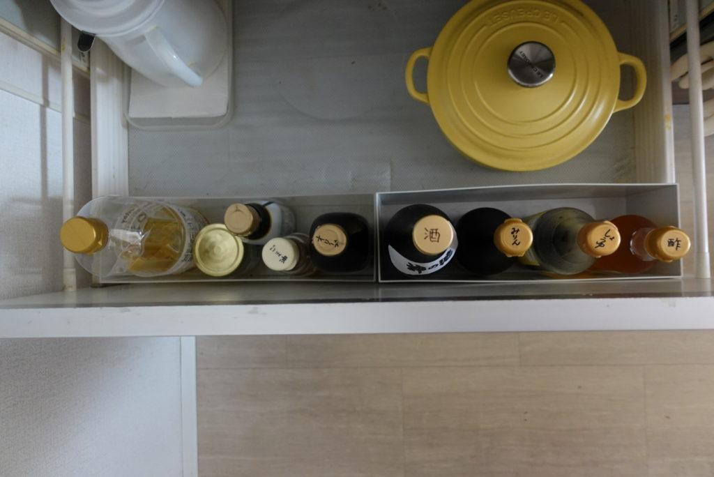 キッチンの引き出しの調味料